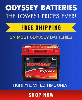 Odyssey Batteries. The Lowest Prices Ever! Free Shipping on most Odyssey Batteries.
