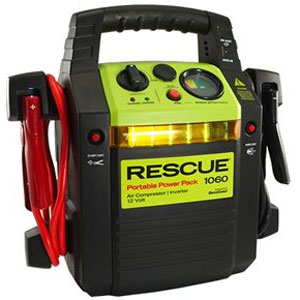 QuickCable Rescue Portable Power Pack 1060 with Inverter & Built in USB Port (California Compliant)