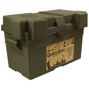 Adjustable Battery Box - For Group 24, 27, 31 (Olive Drab)