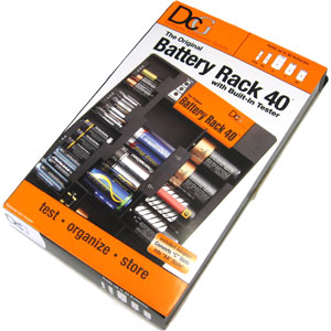 Battery Rack 40 with Built-In Tester