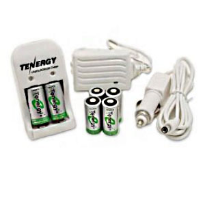 Tenergy CR123A Lithium Phosphate Rechargeable Batteries and Charger