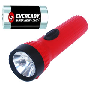 Eveready LED Economy Flashlight with D Battery
