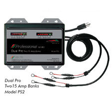 Dual Pro 12 Volt 30 Amp Battery Charger - Two 15 Amp Banks