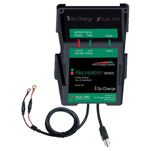 Dual Pro 12 Volt, 6 Amp Waterproof Battery Charger