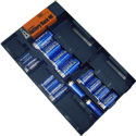 Battery Rack 40 with Built-In Tester and Batteries