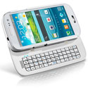 Samsung Galaxy S3 Sliding Bluetooth Keyboard Case - White