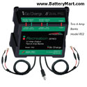 Dual Pro 12 Volt 12 Amp Battery Charger - Two 6 Amp Banks