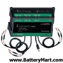 Dual Pro 18 Amp Waterproof Battery Charger - Three 6 Amp Bank
