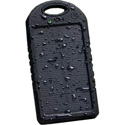 Waterproof Solar Powered External Battery Pack - Black