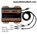 Dual Pro SE 12 Volt 20 Amp Battery Charger - Two 10 Amp Banks