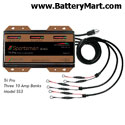 Dual Pro Three Bank Pro SE 12 Volt 30 Amp Battery Charger - Three 10 Amp Banks