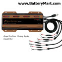 Dual Pro Four Bank Pro SE 12 Volt 40 Amp Battery Charger - Four 10 Amp Banks