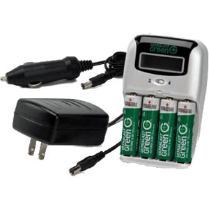 High-Speed Ultralast Green AA and AAA Battery Charger