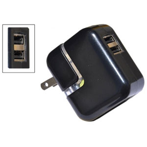 Universal Travel Wall Charger - 2 USB Ports
