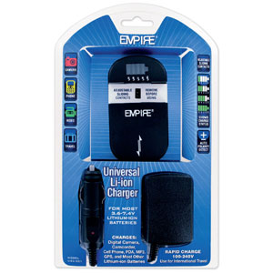 Universal Lithium Ion Charger - For Most 3.6 - 7.4V Li-Ion Batteries