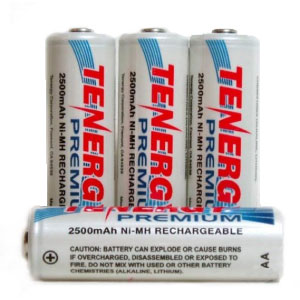 AA NiMH Rechargeable Batteries - 4 Pack