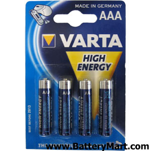 Varta AAA Alkaline Batteries - 4 Pack
