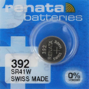 392 Silver Oxide Button Cell Battery