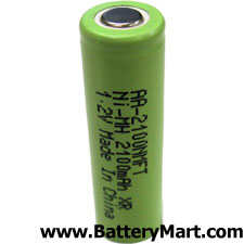 AA Flat Top NiMH Rechargeable Battery