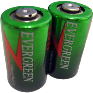 CR2 Lithium Photo Batteries - 2 Pack