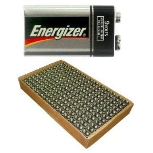 Energizer 9 Volt Batteries - 156 Pack