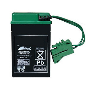Replacement Peg Perego 6 Volt Green Battery for Peg Perego Vehicles