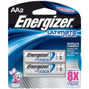 Energizer Ultimate AA Lithium Batteries - 2 Pack
