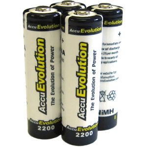 AccuEvolution AA NiMH Rechargeable Batteries - 4 Pack