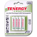 Tenergy Centura AAA Rechargeable Batteries - 4 Pack