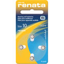 Renata Size 10 Hearing Aid Batteries - 4 Pack