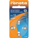 Renata Size 13 Hearing Aid Batteries - 4 Pack