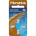 Renata Size 312 Hearing Aid Batteries - 4 Pack
