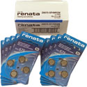 Renata Size 675 Hearing Aid Batteries - 40 Pack