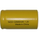 C NiCD Flat Top Rechargeable Battery