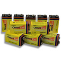 Omnicel 9 Volt Lithium Battery with Foil Pack - 10 Pack