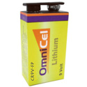 Omnicel 9 Volt Lithium Battery with Foil Pack