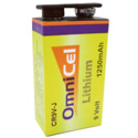 Omnicel 9 Volt Lithium Battery with Metal Jacket