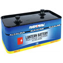 803 Rayovac Alkaline Emergency Lantern, 7.5V  Industrial Battery, Screw Terminals