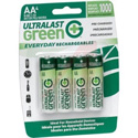 Rechargeable AA NiMH Batteries - 4 Pack