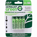 Rechargeable AAA NiMH Batteries - 4 Pack