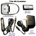 Digital / Video Battery Charger Kit with CRV3 Battery