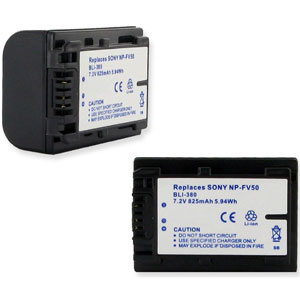 Replacement Sony NP-FV30, NP-FV50, NP-FV70, NP-FV100 Battery
