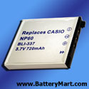 Casio NP-60 Replacement Battery