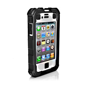 Ballistic Hard Core (HC) Series for iPhone 4S - 4 Black-ON-White