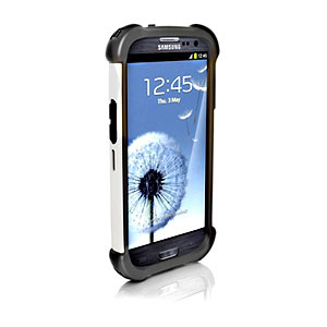 Ballistic Shell Gel (SG) MAXX Series for Samsung Galaxy S III - Charcoal-ON-White