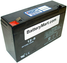 6 Volt 12 Ah Sealed Lead Acid Battery - F2 Terminal
