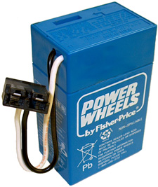 Fisher Price 6 Volt, 4 Ah Blue Power Wheels Battery