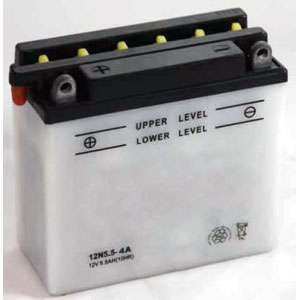 12N5-5-4A Dry Charge Battery: Acid Required
