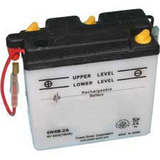 6N4B-2A Dry Charge Battery: Acid Required