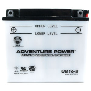 UB16-B Dry Charge Battery With Acid